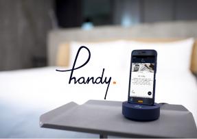 西鉄ホテルグループ 国内店舗の全客室に無料スマートフォン「handy」を設置いたします!