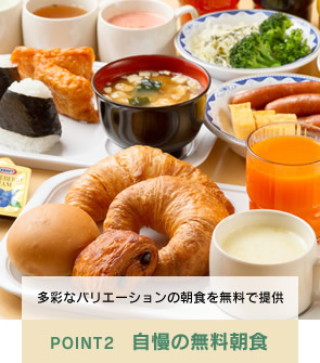 POINT2 自慢の無料朝食